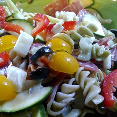 Marinated Italian pasta #salad with yell by Photos by Mavis, on Flickr