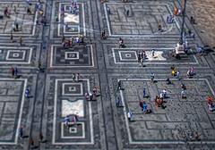 Piazza Del Duomo (emptyseas) Tags: roof sculpture milan building church statue architecture del nikon cathedral milano gothic shift piazza duomo tilt duomodimilano d80 emptyseas