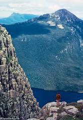 Lake Judd, 1983 (NettyA) Tags: lake mountains film 35mm australia slide bushwalking tasmania tassie circuit worldheritage scannedslide southwestnationalpark mtanne swtasmania