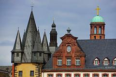 Roof & Tower (Lutz Koch) Tags: city windows roof tower church germany deutschland hessen rooftops frankfurt fenster sony kreuz alpha turm dach hesse dcher dachlandschaft elkaypics nex7