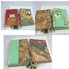 Titanic travel art journal pages (ld photography 12) Tags: collage notebook map mixedmedia diary fiberart fiber titanic artjournal traveljournal ldphotography