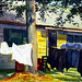 """Wash Day in Hopkinton,"" watercolor, Kenneth Wiley"