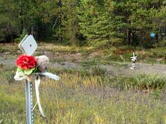 Krissie Lynn Shirlaw 2 (MT Silverstar) Tags: memorial cross roadsidememorial marker tribute descanso fatality descansos