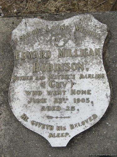Trooper Edward ROBINSON - died not long after returning from the Boer War
