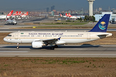 HZ-AS39 Saudi Arabian Airlines A320 (Centreline Photography) Tags: plane canon turkey airplane airport ataturk aircraft aviation turkiye airplanes flight istanbul aeroplane planes chrishall flughafen ist runway spotting airliner airliners planespotting flug spotters eos400d istanbulairport ltba turkishairports centrelinephotography