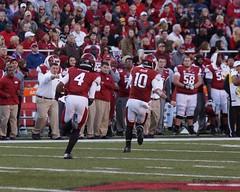 University of Arkansas vs Auburn University Football (Garagewerks) Tags: man male college ex sport football university sony sigma auburn os apo arkansas f28 dg a77 70200mm hsm