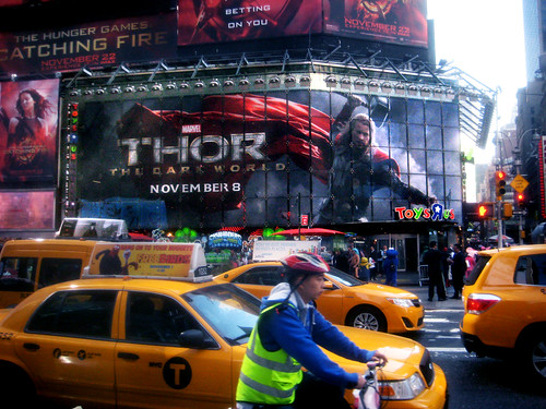 street new york city nyc chris holiday movie poster square toys book us store theater comic theatre god ad super billboard advertisement lobby ornament ornaments r hero times thor marvel viking advertisements mighty thunder 43rd standee 2013 hemsworth