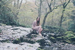 (catherine r booty) Tags: autumn trees fall nature girl beauty fashion river garden lost photography sadness waterfall rocks peace natural forrest magic dresses lonely