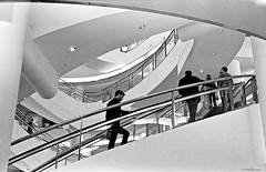 Escalate (salar hassani) Tags: leica urban building film shop architecture stairs 35mm mall shopping 50mm climb loop steps shades d76 summicron developer f2 135 m6 hp5film