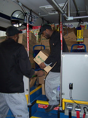 DART's 16th annual Stuff the Bus - donations being unloaded at the Food Bank of Delaware 11-15-13 (DART First State) Tags: publictransportation delaware masstransit dart foodbankofdelaware stuffthebusfooddrive dartfirststate delawarebuscompany delawarebuses