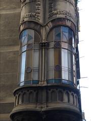 Turin November/ December 2013 (Yekkes) Tags: windows italy architecture torino stainedglass artnouveau turin piedmont baywindows libertystyle viadesonnaz