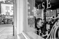 Think in B&W (Emifulio81) Tags: b white man black london look town reflex pub nikon post 5 camden w e production mm 105 18 bianco londra nero vetro lightroom riflesso produzione d7000