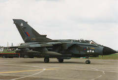 RAF Panavia Tornado GR1A - ZA395 - RAF Fairford (anorakin) Tags: 1982 1998 tornado departure raf spartan fairford riat panavia marham taxying 2squadron gr1a za395