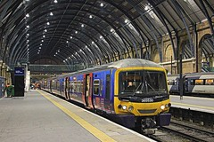 Under the Roof: First Capital Connect 365530 - London Kings Cross (96tommy) Tags: new old uk roof england london station electric photography coast photo flickr neon cross britain united main capital great transport harry potter first kingdom class line east kings transportation gb multiple emu 365 connect refurbishment unit mainline ecml 365530