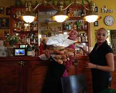 *** ho Ho HO ! *** (uteart) Tags: mexico restaurant downtown baguettes delivery puertovallarta waitress frenchbread hohoho lacigale frenchrestaurant utehagen uteart blinkagain thebarkeeper copyrightutehagen2014allrightsreserved