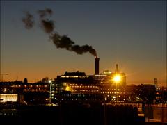 Night smoke (*Kicki*) Tags: stockholm sweden night smoke luma explore flickrexplore explored sky clouds dusk skyline hammarbysjöstad