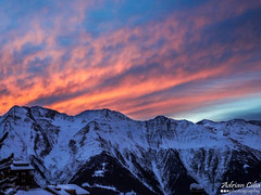 RiederAlp --- Switzerland --- Sunrise (Drinu C) Tags: orange snow mountains nature sunrise landscape switzerland swiss sony dsc hx9v adrianciliaphotography