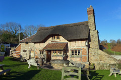 The Live and Let Live Pub (Tiggrx) Tags: house building brick stone wooden pub chairs cottage well herefordshire thatched publichouse bringstycommon liveandletlive