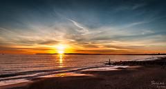 Iron Sky (Sirius-Art) Tags: sunset sea seascape art beach clouds reflections awesome shoreline dorset sirius bournemouth 2014 hengistburyhead hdrlandscape blinkagain