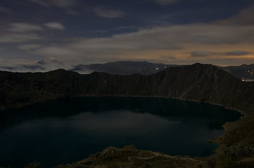 Quilotoa Caldera at Night
