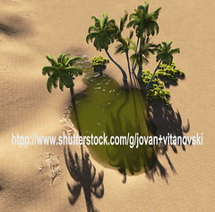 Oasis (www.pond5.com/artist/vitanovski) Tags: africa lake tree green nature water grass landscape bush sand desert nobody oasis palmtree copyspace computergraphic heathaze threedimensionalshape illustrationandpainting digitallygeneratedimage tropicalclimate travellocations