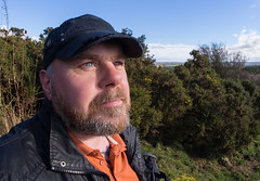 A Portrait. (CWhatPhotos) Tags: pictures camera blue portrait sky fish man male eye me look hat digital pen self that lens beard outside lite four photography countryside eyes focus skies foto open with view image artistic pics air wide picture pic olympus images fisheye have photographs photograph fotos micro manual 35 olympuspen which skys fell fit contain 43 thirds selfie f35 75mm mft selfies samyang waldridge esystem sanyang selfees selfee cwhatphotos epl5