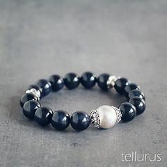 Hawk's eye (blue tiger eye) & sterling silver bracelet (beakee) Tags: handmade jewelry jewellery bracelet handcrafted accessories navyblue gemstones sterlingsilver hawkseye bluetigereye tellurus