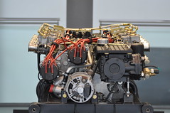 V12-Lamborghini 400 (1973-1977) (Transaxle (alias Toprope)) Tags: sports car museum spectacular design engine machine super racing legendary sharp most lp radical marcello lamborghini 1973 wolfsburg futuristic autostadt weber styling countach gandini edges lambo proportions bertone topspeed 300club dohc midengined scissordoors club300 marcellogandini twelvecylinder 45dcoe longitudinaleposteriore overheadcamshafts 315kmh