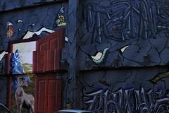 Graffiti on Capital Hill (MacKenzie Richmond) Tags: seattle portrait blackandwhite graffiti washington pug capitalhill uploaded:by=flickrmobile flickriosapp:filter=nofilter mackenzierichmond