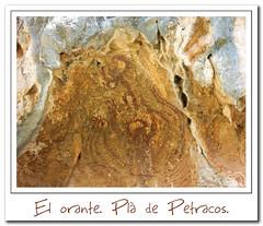 El orante (Elas Gomis) Tags: mountain art arte unesco alicante montaa cultura pinturas castell primitivo rupestre alacant humanidad patrimonio castells petracos orante abrigos benigembla eliasgomis macroesquematico