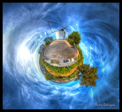 Windmill [Planet] (Feiersinger) Tags: park parque panorama portugal windmill canon garden de little lisboa lisbon projection dos planet wee santana 8mm hdr 360x180 moinho belm planeta 360 stereographic moinhos recreativo samyang 700d