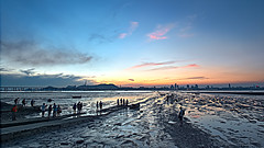 Sunset afterglow at Lau Fau Shan, Hong Kong (johnlsl) Tags: sunset hongkong evening afterglow laufaushan
