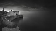 Fortress by the river (João Cruz Santos) Tags: alcochete portugal seascape waterscape cityscape longexposure bw black white a7 blackandwhite minoltaaf1735