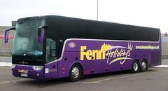 Fenn Holidays, March, Cambridgeshire MR13FEN on stopover at Blackpool Central Coach Park. (Gobbiner) Tags: vanhool daf fennholidays mr13fen astron tx17 march cambridgeshire