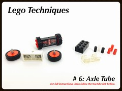 Lego Techniques: #6 Axle Tubes (Siercon and Coral) Tags: 6