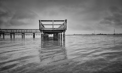 Strength Amidst Turmoil (JDS Fine Art & Fashion Photography) Tags: blackandwhite bw pier clouds storm inspiration