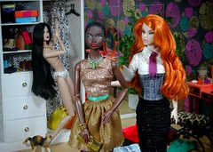 (5) Outfit Selection Success. (MiskatonicNick) Tags: diorama integritytoys playscale sixthscale 16 ayumi isha nadja miraclechild urbanoutfitting shimmeringcopper doll dolls nuface fashionroyalty