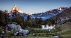 Schweiz, Zermatt, Grindjisee (christian.denger) Tags: wwwchrisdengerde schweiz zermatt grindjisee canon1635f4 sirui hiking sunset matterhorn see berge outdoor tripod travel
