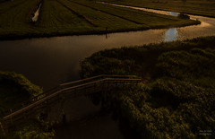 Bridge Into Darkness. (Alex-de-Haas) Tags: dutch holland nederland netherlands noordholland zaanseschans bridge brug gras grass grasslands landscape landschap licht light meadow meadows oerhollands summer sunny sunset sunsetlight weiland weilanden zomer zonnig zonsondergang