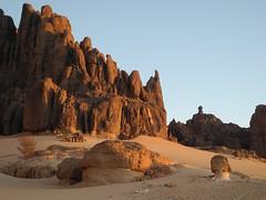 Chad Tibesti S Borkou (ursulazrich) Tags: tschad chad ciad tchad tibesti sahara afrika africa afrique tugui tungur rocks felsen moutains sand desert sunset