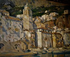 """Amalfi"" (1938) by Gennaro Villani (Naples 1885-Naples 1948) - ""The hidden art treasures: 150 Italian masterpieces"" - Exhibition up to May 28, 2017 in Naples"