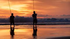 _MG_1724 (treilmann) Tags: beach fisherman seminyak sunset bali fishing