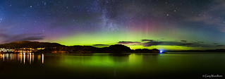 Tarbert Lights - Aurora Borealis & Milky Way, Tarbert, Argyll