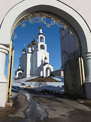 The Cathedral of the Resurrection of Christ (Oleg.A) Tags: landscape winter church mordovia frost rural evening villiage snow pokrovskyselishchi monastery orthodox architecture cathedral sunset russia themonasteryofsaintvarsonofy catedral convent landscapes respublic respublikamordoviya ru