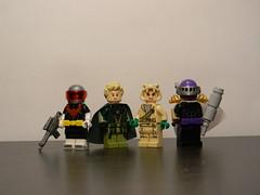 DC Figures #16: Edgelords (Strike U) Tags: lego batman green arrow justice league unlimited arkham asylum young superman the flash custom