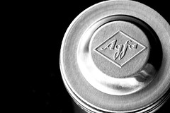 A rare sight these days (flowrwolf) Tags: macromondays madeofmetalformacromondays madeofmetal 69rarefor117in2017 117in2017 117picturesin2017 rare filmcanister agfafilmcanister canister metalcanister macro makro macrophotography aluminium aluminum black blackbackground silver silvercoloured blackandwhite shiny bright indoor indoors inside flowrwolf
