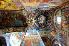 The Church of the Savior on Spilled Blood - Ceiling (frisch-luft.ch) Tags: detail art church architecture stpetersburg cathedral russia mosaic christian scandinavia canon600d snapseed