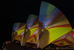 Opera house Vivid (mathias Straumann) Tags: house color colour water night lights opera harbour sydney vivid