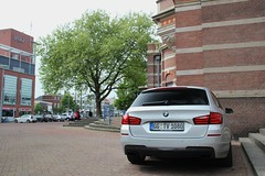 BMW M550d xDrive Touring (Dannny32) Tags: auto holland netherlands car station grey diesel arnhem nederland 4wd turbo bmw touring grijs 5series 550 the xdrive 550d 5serie m550 m550d