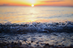 Bubbles (justinababcock) Tags: sunset sun beach water spring nikon rocks wave bubbles d7000